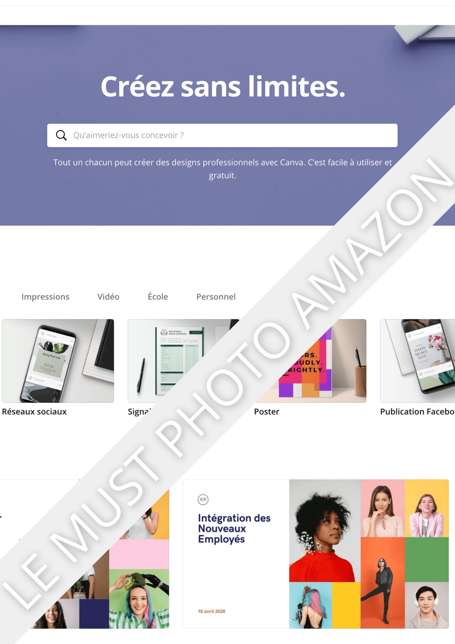 photo produit montage amazon fba listing produit gratuit canva code promo